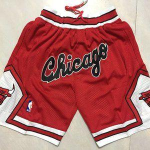Chicago Bulls Red Shorts Just Don Basketball Short